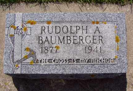 BAUMBERGER, RUDOLPH ABRAHAM - Minnehaha County, South Dakota | RUDOLPH ABRAHAM BAUMBERGER - South Dakota Gravestone Photos