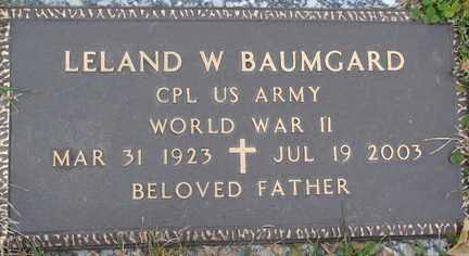 BAUMGARD, LELAND WAYNE - Minnehaha County, South Dakota | LELAND WAYNE BAUMGARD - South Dakota Gravestone Photos