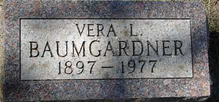 BAUMGARDNER, VERA L. - Minnehaha County, South Dakota | VERA L. BAUMGARDNER - South Dakota Gravestone Photos