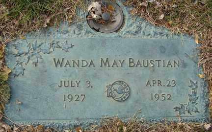 BAUSTIAN, WANDA MAY - Minnehaha County, South Dakota | WANDA MAY BAUSTIAN - South Dakota Gravestone Photos