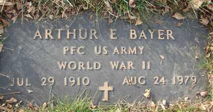 BAYER, ARTHUR E. - Minnehaha County, South Dakota | ARTHUR E. BAYER - South Dakota Gravestone Photos