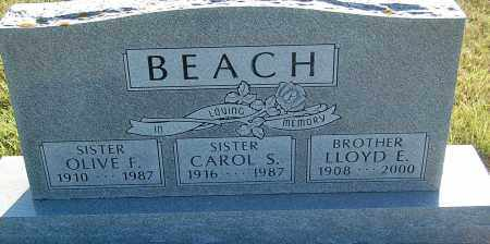 BEACH, OLIVE F. - Minnehaha County, South Dakota | OLIVE F. BEACH - South Dakota Gravestone Photos