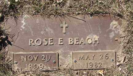 BEACH, ROSE E. - Minnehaha County, South Dakota   ROSE E. BEACH - South Dakota Gravestone Photos