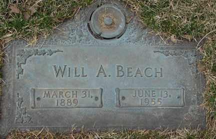 BEACH, WILL A. - Minnehaha County, South Dakota   WILL A. BEACH - South Dakota Gravestone Photos
