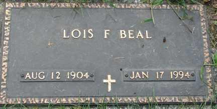 BEAL, LOIS F. - Minnehaha County, South Dakota | LOIS F. BEAL - South Dakota Gravestone Photos
