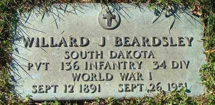 BEARDSLEY, WILLARD J. - Minnehaha County, South Dakota | WILLARD J. BEARDSLEY - South Dakota Gravestone Photos