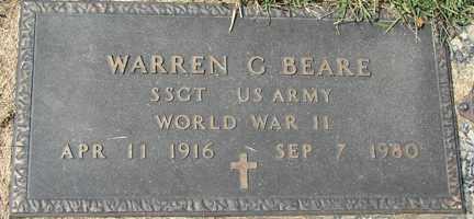 BEARE, WARREN G. (WWII) - Minnehaha County, South Dakota   WARREN G. (WWII) BEARE - South Dakota Gravestone Photos