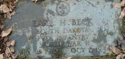 BECK, EARL H. (WWII) - Minnehaha County, South Dakota | EARL H. (WWII) BECK - South Dakota Gravestone Photos