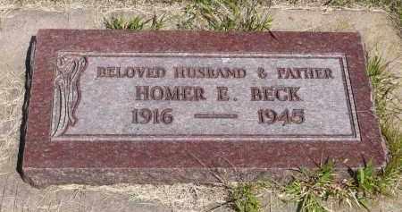 BECK, HOMER E. - Minnehaha County, South Dakota | HOMER E. BECK - South Dakota Gravestone Photos
