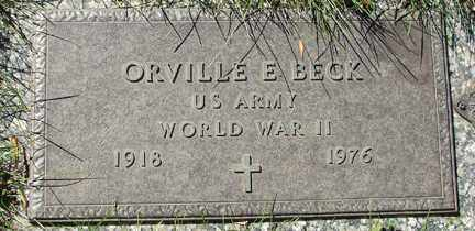 BECK, ORVILLE E. - Minnehaha County, South Dakota | ORVILLE E. BECK - South Dakota Gravestone Photos