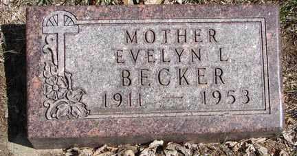 BECKER, EVELYN L. - Minnehaha County, South Dakota | EVELYN L. BECKER - South Dakota Gravestone Photos