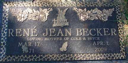 BECKER, RENE JEAN - Minnehaha County, South Dakota | RENE JEAN BECKER - South Dakota Gravestone Photos