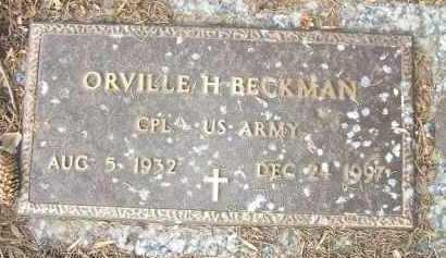 BECKMAN, ORVILLE H. - Minnehaha County, South Dakota   ORVILLE H. BECKMAN - South Dakota Gravestone Photos