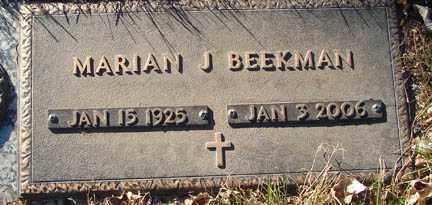 BEEKMAN, MARIAN J. - Minnehaha County, South Dakota | MARIAN J. BEEKMAN - South Dakota Gravestone Photos