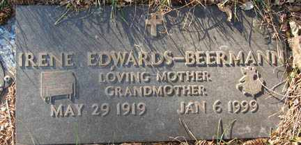 EDWARDS BEERMANN, IRENE - Minnehaha County, South Dakota | IRENE EDWARDS BEERMANN - South Dakota Gravestone Photos