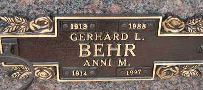 BEHR, GERHARD L. - Minnehaha County, South Dakota | GERHARD L. BEHR - South Dakota Gravestone Photos