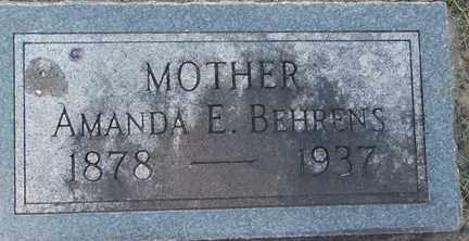BEHRENS, AMANDA E. - Minnehaha County, South Dakota | AMANDA E. BEHRENS - South Dakota Gravestone Photos