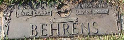 BEHRENS, ELIZABETH - Minnehaha County, South Dakota | ELIZABETH BEHRENS - South Dakota Gravestone Photos