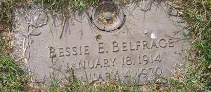 "BELFRAGE, BETSY ""BESSIE"" ELDORA - Minnehaha County, South Dakota   BETSY ""BESSIE"" ELDORA BELFRAGE - South Dakota Gravestone Photos"