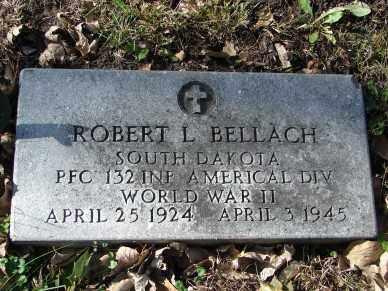 BELLACH, ROBERT L - Minnehaha County, South Dakota   ROBERT L BELLACH - South Dakota Gravestone Photos