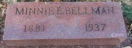 BELLMAN, MINNIE E. - Minnehaha County, South Dakota   MINNIE E. BELLMAN - South Dakota Gravestone Photos
