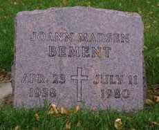 BEMENT, JOANN - Minnehaha County, South Dakota   JOANN BEMENT - South Dakota Gravestone Photos