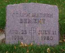BEMENT, JOANN - Minnehaha County, South Dakota | JOANN BEMENT - South Dakota Gravestone Photos