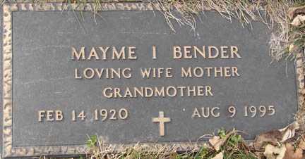 BENDER, MAYME I. - Minnehaha County, South Dakota | MAYME I. BENDER - South Dakota Gravestone Photos