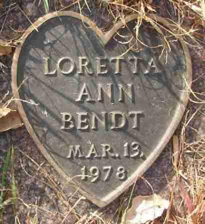 BENDT, LORETTA ANN - Minnehaha County, South Dakota | LORETTA ANN BENDT - South Dakota Gravestone Photos