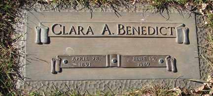 BENEDICT, CLARA A. - Minnehaha County, South Dakota | CLARA A. BENEDICT - South Dakota Gravestone Photos