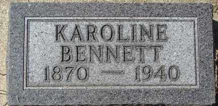 BENNETT, KAROLINE - Minnehaha County, South Dakota | KAROLINE BENNETT - South Dakota Gravestone Photos