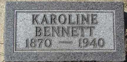 BENNETT, KAROLINE - Minnehaha County, South Dakota | KAROLINE BENNETT - South Dakota Gravestone Photos