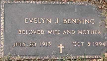 BENNING, EVELYN J. - Minnehaha County, South Dakota | EVELYN J. BENNING - South Dakota Gravestone Photos