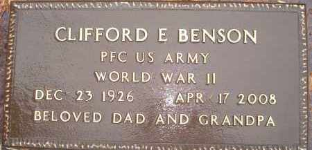 BENSON, CLIFFORD E - Minnehaha County, South Dakota | CLIFFORD E BENSON - South Dakota Gravestone Photos