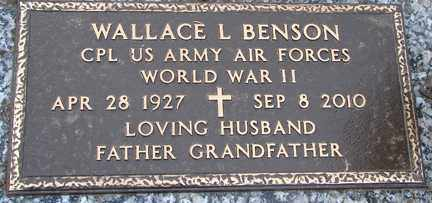 BENSON, WALLACE L. (WWII) - Minnehaha County, South Dakota | WALLACE L. (WWII) BENSON - South Dakota Gravestone Photos