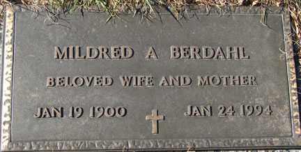 BERDAHL, MILDRED A. - Minnehaha County, South Dakota | MILDRED A. BERDAHL - South Dakota Gravestone Photos