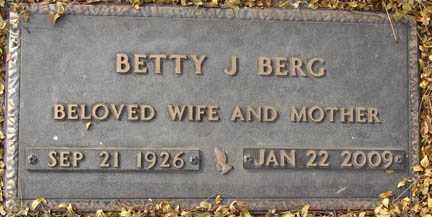 BERG, BETTY J. - Minnehaha County, South Dakota | BETTY J. BERG - South Dakota Gravestone Photos