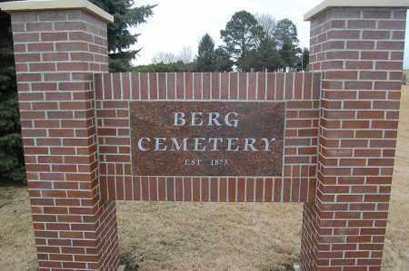 *BERG CEMETERY, ENTRANCE - Minnehaha County, South Dakota | ENTRANCE *BERG CEMETERY - South Dakota Gravestone Photos