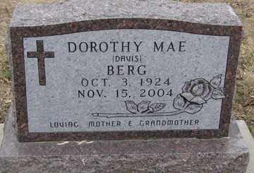 BERG, DOROTHY MAE - Minnehaha County, South Dakota | DOROTHY MAE BERG - South Dakota Gravestone Photos