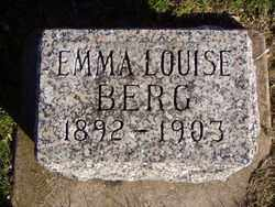BERG, EMMA LOUISE - Minnehaha County, South Dakota   EMMA LOUISE BERG - South Dakota Gravestone Photos