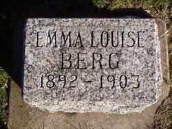 BERG, EMMA LOUISE - Minnehaha County, South Dakota | EMMA LOUISE BERG - South Dakota Gravestone Photos