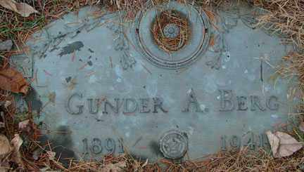 BERG, GUNDER A. - Minnehaha County, South Dakota | GUNDER A. BERG - South Dakota Gravestone Photos