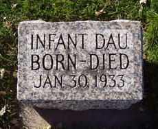 BERG, INFANT DAU. - Minnehaha County, South Dakota   INFANT DAU. BERG - South Dakota Gravestone Photos