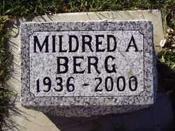 BERG, MILDRED A. - Minnehaha County, South Dakota | MILDRED A. BERG - South Dakota Gravestone Photos