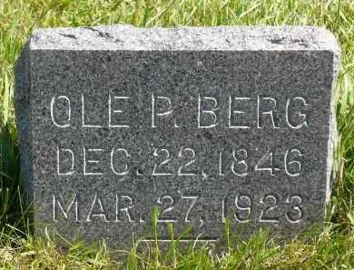 BERG, OLE P. - Minnehaha County, South Dakota | OLE P. BERG - South Dakota Gravestone Photos