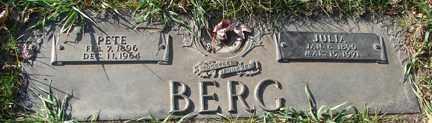 BERG, PETE - Minnehaha County, South Dakota | PETE BERG - South Dakota Gravestone Photos