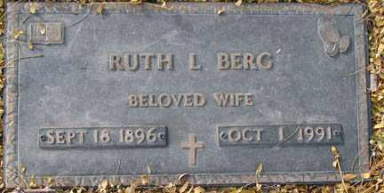 BERG, RUTH L. - Minnehaha County, South Dakota | RUTH L. BERG - South Dakota Gravestone Photos