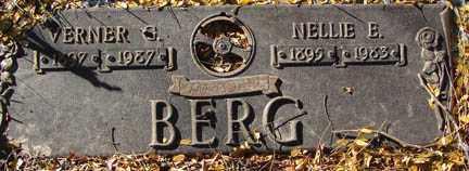 BERG, NELLIE E. - Minnehaha County, South Dakota   NELLIE E. BERG - South Dakota Gravestone Photos