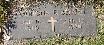 BERGAN, WINONA E. - Minnehaha County, South Dakota   WINONA E. BERGAN - South Dakota Gravestone Photos
