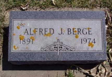 BERGE, ALFRED J. - Minnehaha County, South Dakota   ALFRED J. BERGE - South Dakota Gravestone Photos